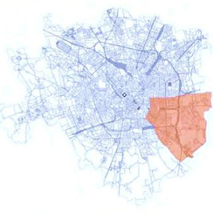Map Milano red